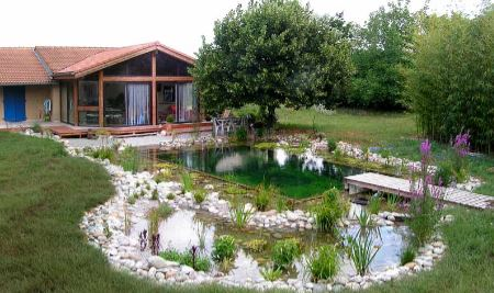 R ve de gosse un bassin dans le jardin for Construction piscine naturelle